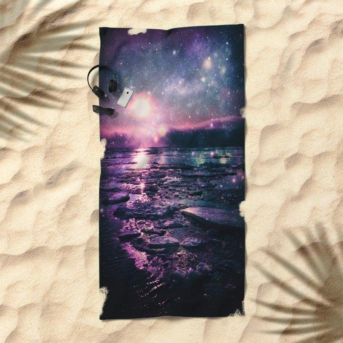 Mystic Waters Mermaid Gradient Beach Towel