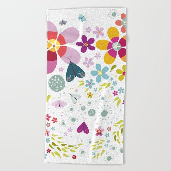Schmetterlingswiese – Butterfly-Meadow Beach Towel