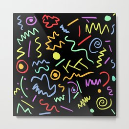 90s Neon Metal Print
