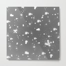 Splatter Pillow Metal Print