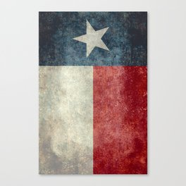 Texas state flag, vintage banner Canvas Print