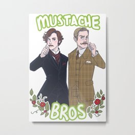 Mustache Bros Metal Print