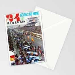 1969 Le Mans poster, Race poster, Car poster, vintage poster Stationery Cards