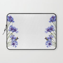 Slant blue cornflower flowers Laptop Sleeve