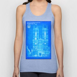 Westminster Abbey Architecture - Gothic Blueprints  Unisex Tank Top