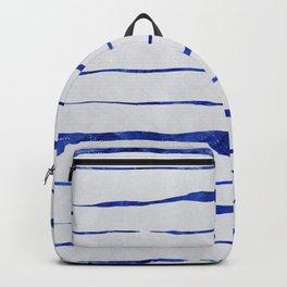 Blue Wiggly Stripes Pattern Backpack