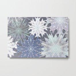 Layered Snowflakes Metal Print