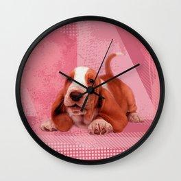 Basset Hound Puppy Wall Clock