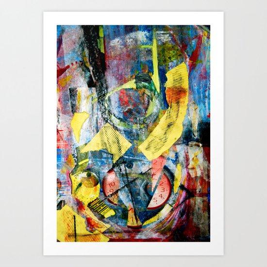 Time Collage Art Print