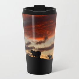 Midnight sun Icelandic sheep Travel Mug