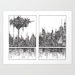 The City of our Tallest Fears Art Print