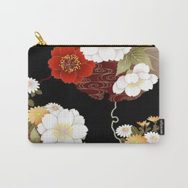 Japanese Sumi Flower Print Carry-All Pouch