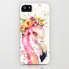 Little Flamingo iPhone Case
