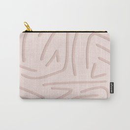 Pink squiggles with blush background Carry-All Pouch