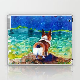Corgi - sea admirer Laptop & iPad Skin