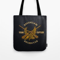quidditch Tote Bags featuring Ravenclaw quidditch team iPhone 4 4s 5 5c, ipod, ipad, pillow case, tshirt and mugs by Three Second