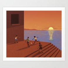 Dreaming the World Cup Art Print