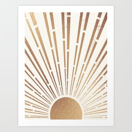Sun Shines Inside you-Gold Edition Art Print