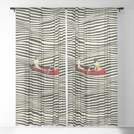 Illusionary Boat Ride Sheer Curtain