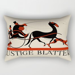 Lustige Blaetter (Funny pages) Rectangular Pillow