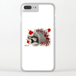 Thee Roman Wolf Clear iPhone Case