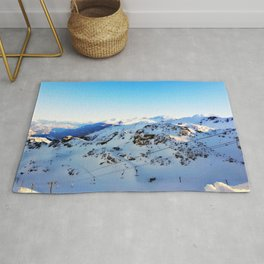 Shades of blue at the mountains Rug