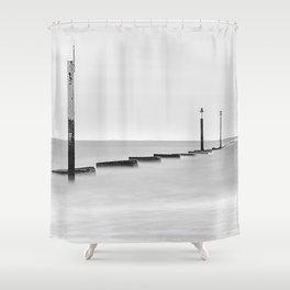 Groynes & Posts - Eastney, Portsmouth Shower Curtain