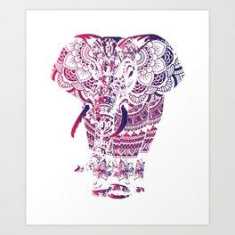 elephant mandala project Ornate Art Style Art Print