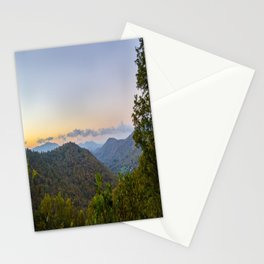 Sleepy valley town Stationery Cards