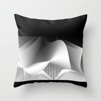 data Throw Pillows featuring Data script  by dominiquelandau