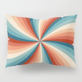Colorful retro style sun rays Pillow Sham