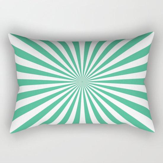 Starburst (Mint/White) Rectangular Pillow