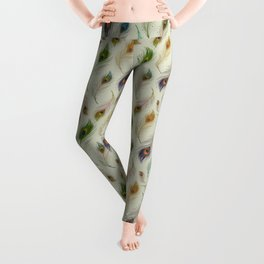 Colorful Array Of Peacock Feathers Leggings