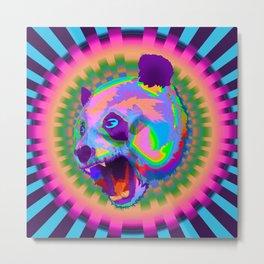 Prismatic Panda  Metal Print