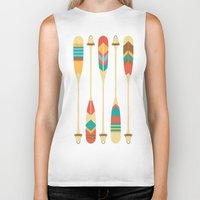 preppy Biker Tanks featuring Summer Lake by Picomodi