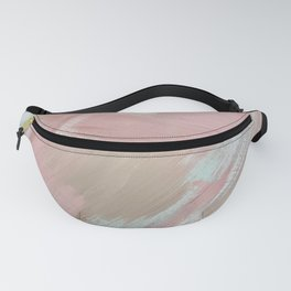 Boho Abstract Painting #2- Bohemian Pink and Tan Desert Painting Fanny Pack