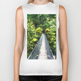 Is this your real path? The Bridge in Wild Rainforest Biker Tank