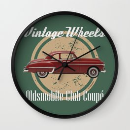 Vintage Wheels: Oldsmobile Club Coupé Wall Clock
