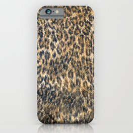 Leopard Cheetah Fur Wildlife Print Pattern iPhone Case