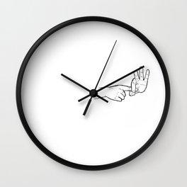 In hoc signo vinces (con este signo venceras) Wall Clock