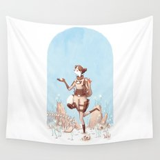 Walking Home Wall Tapestry
