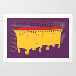 Commercial Bins Art Print