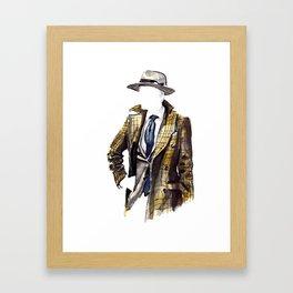 Tweed Jacket Gentleman Framed Art Print