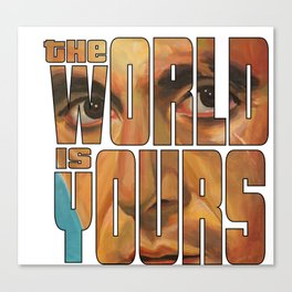 The world is yours Canvas Print