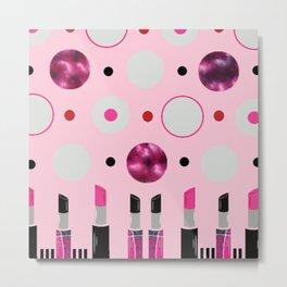 Polka Dots and Lipsticks Metal Print