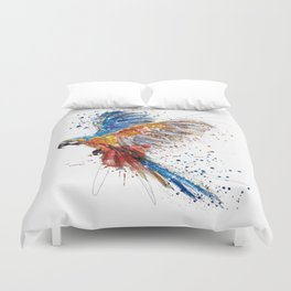 Beautiful Colorful Macaw Duvet Cover