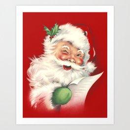 Vintage Santa Kunstdrucke