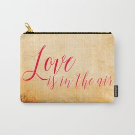 LOVE IS THE AIR Portrait Carry-All Pouch