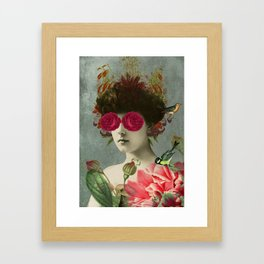 the only girl i ever loved was born with roses in her eyes. Framed Art Print