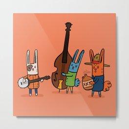 Smug Bunny Bluegrass Metal Print